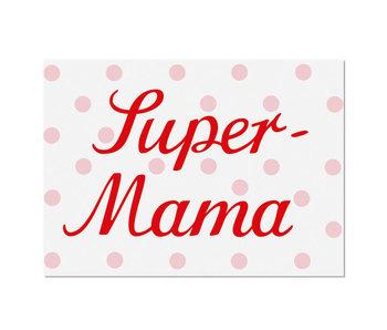 """krima & isa Postkarte """"Super-Mama"""""""
