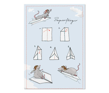 "krima & isa Postkarte ""Papierflieger"""