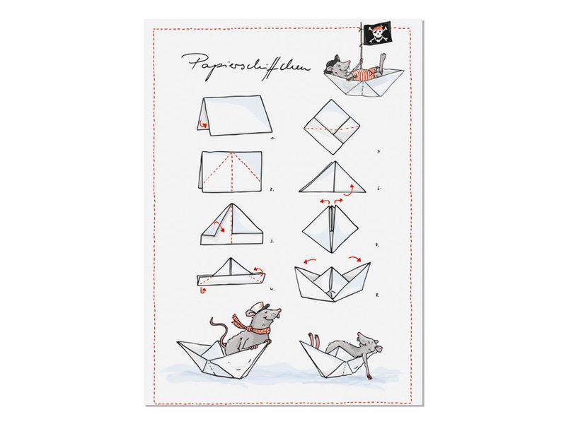 """krima & isa Postkarte """"Papierschiffchen"""""""