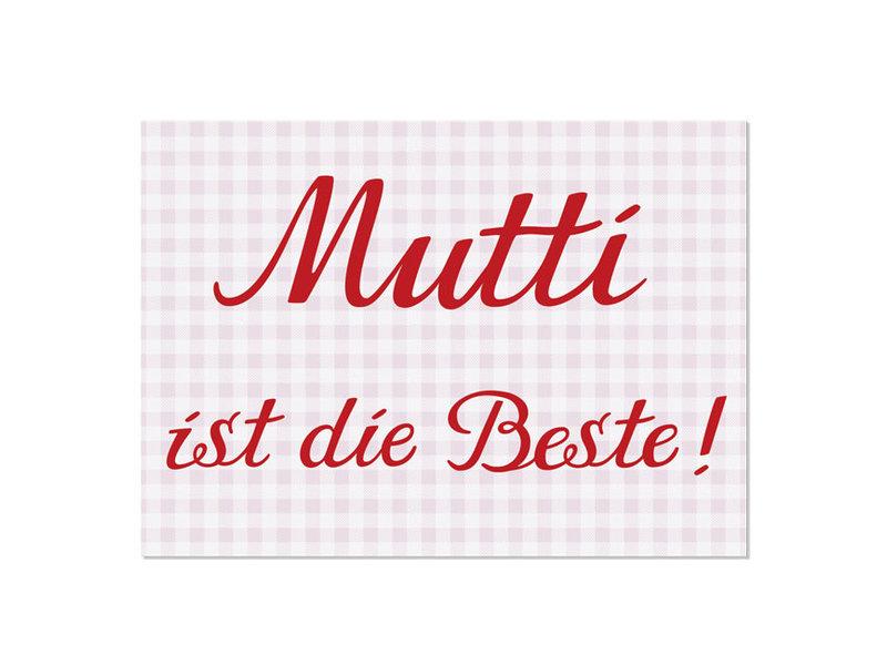 """krima & isa Postkarte """"Mutti ist die Beste"""""""