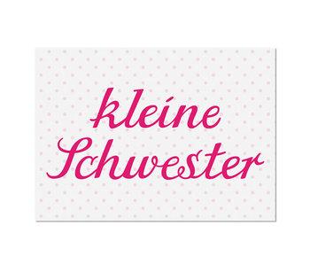 """krima & isa Postkarte """"Kleine Schwester"""""""