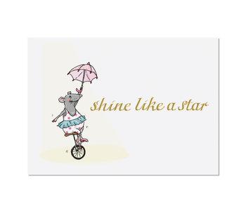 "krima & isa Postkarte ""Shine like a Star"""