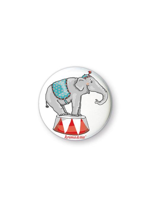 krima & isa Button Zirkuselefant