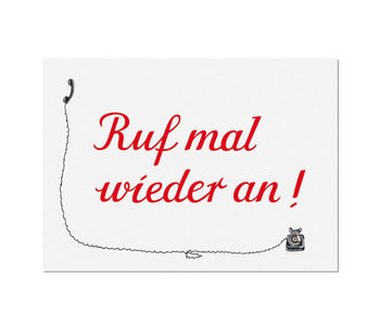 """krima & isa Postkarte """"Ruf am wieder an"""" Telefon"""
