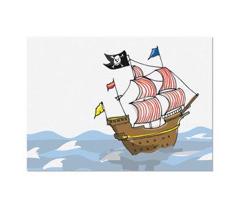 krima & isa Postkarte Piratenschiff