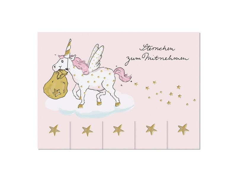 krima & isa Postkarte Sterne zum Mitnehmen