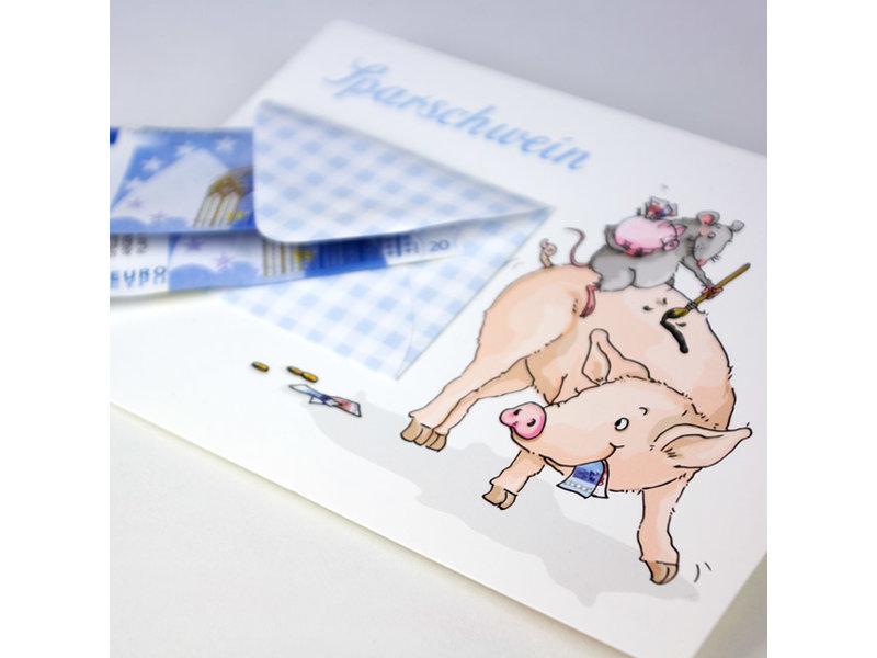 krima & isa Briefchenkarte Sparschwein