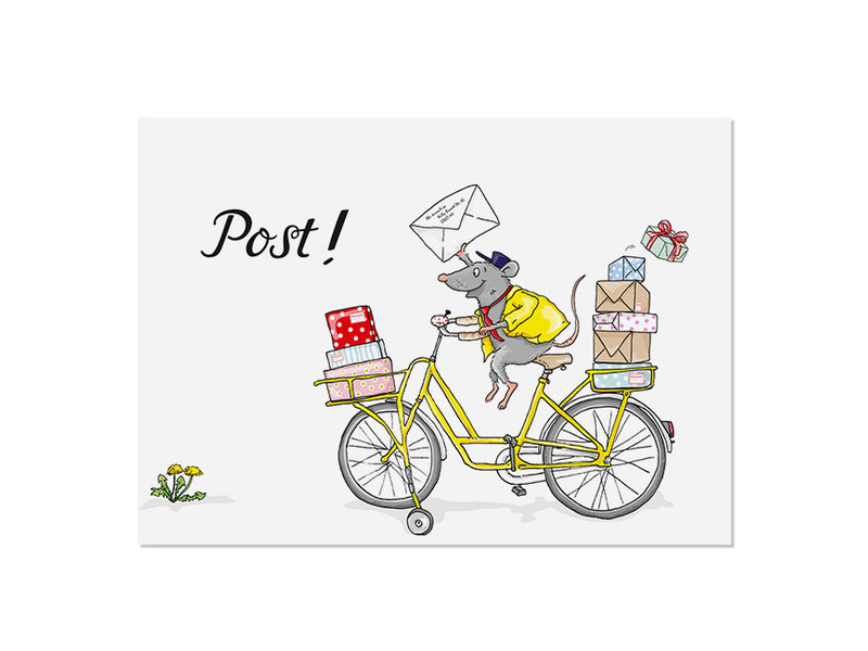 krima & isa Postkarte Postmaus