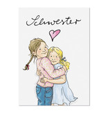 krima & isa Postkarte Schwestern