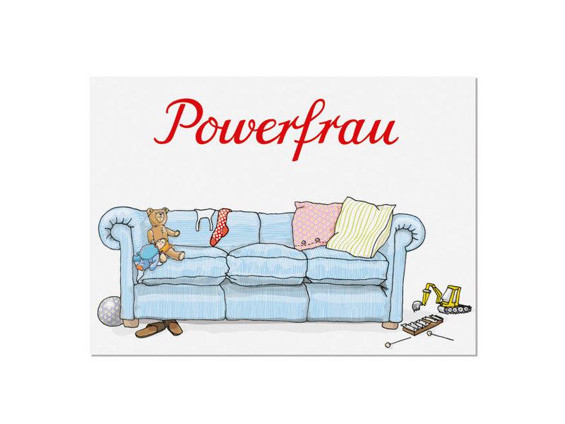 krima & isa Postkarte Powerfrau