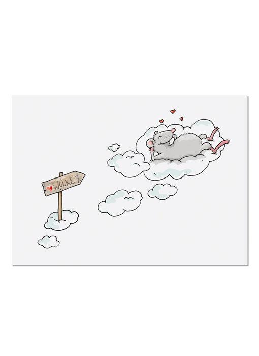 krima & isa Postkarte Wolke 7