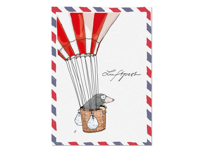 "krima & isa Postkarte ""Luftpost""Ballonfahrt"
