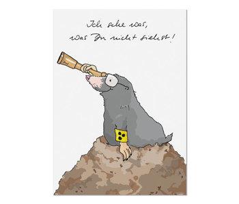 """krima & isa Postkarte """"Ich sehe was, was Du nicht siehst"""" Maulwurf"""