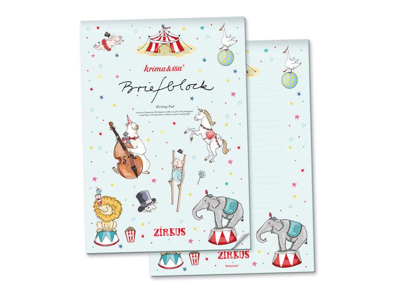 krima & isa Briefblock Zirkus A4