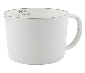 IB LAURSEN Kanne Emaille 0,5 L mit Volumeneinheit
