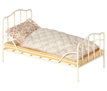 "Maileg Hasen ""Vintage Bett"" off white, mini"