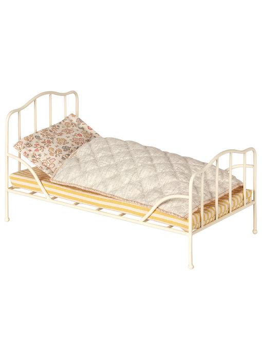 "Maileg Hasen ""Vintage Bett"" off white, mini"