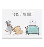 """krima & isa Postkarte """"Einen Toast auf Dich!"""""""