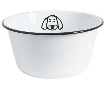 "IB LAURSEN Hunde ""Fressnapf"" Emaille, groß"