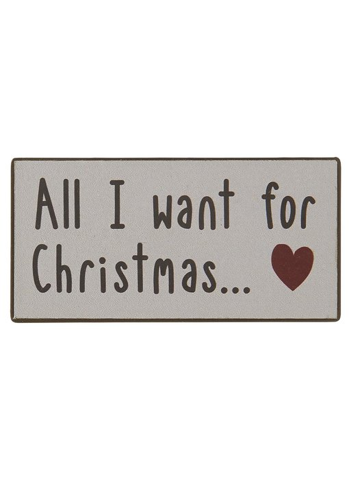 """IB LAURSEN Magnet """"All I want for Christmas... ♥"""""""