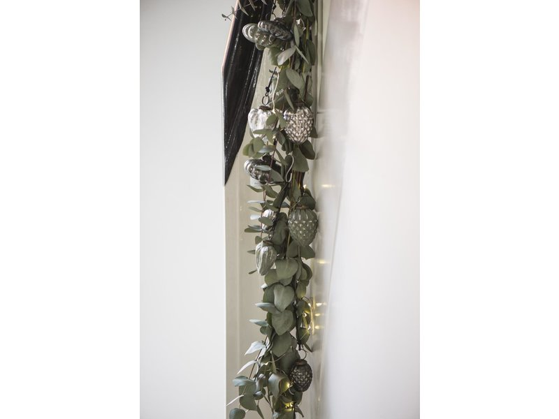 IB LAURSEN Weihnachtskugel Zapfen silber, groß