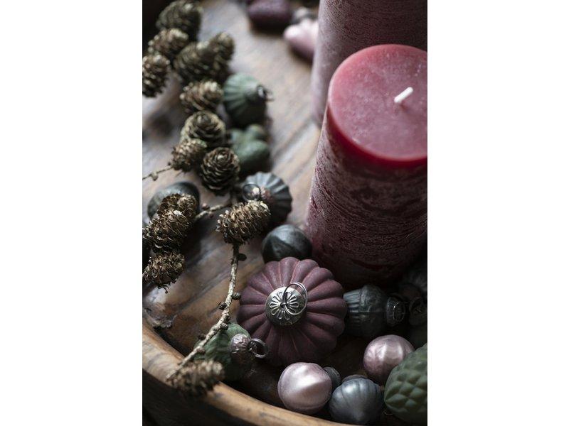 IB LAURSEN Tüte mit 10 mini Weihnachtskugeln, rosa