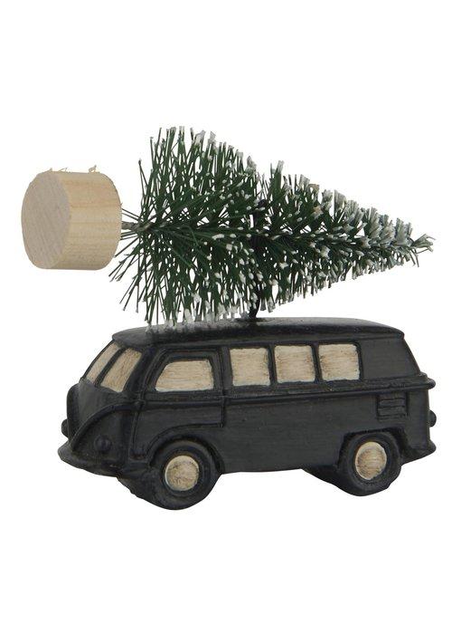 IB LAURSEN Auto mit Tannenbaum hängend, schwarz