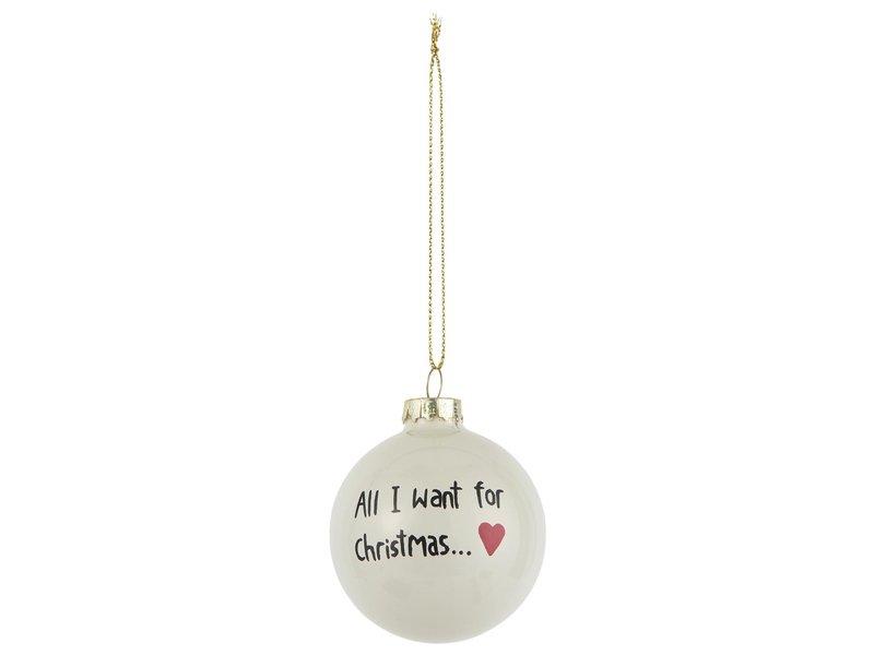 "IB LAURSEN Weihnachtskugel-Set ""All I Want & Mistelzweig"" 2 Stk."