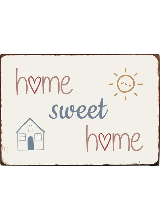 "IB LAURSEN Metallschild ""Home Sweet Home"""