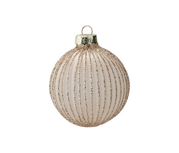 "GreenGate Baumkugel ""Elisabeth pale nude"" hanging small"