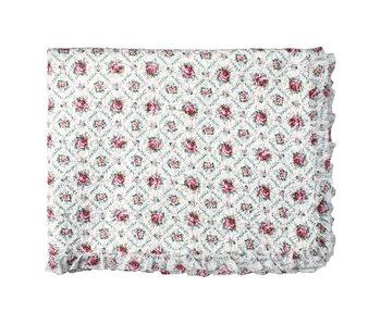 """GreenGate Quilt """"Malene petit white mit Rüschen"""" 180x230cm"""