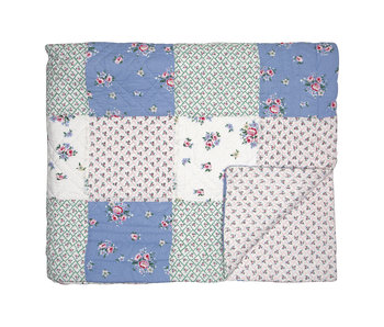 "GreenGate Quilt ""Nicoline white patchwork"" 140x240cm"