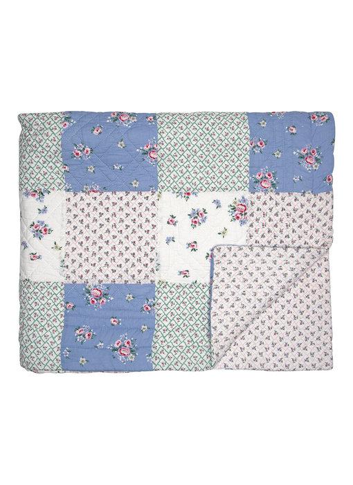 "GreenGate Quilt ""Nicoline white patchwork"" 140x240cm"