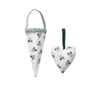 "GreenGate Joselyn green ""Spitztüte & Herz"" Set 2 Stk."