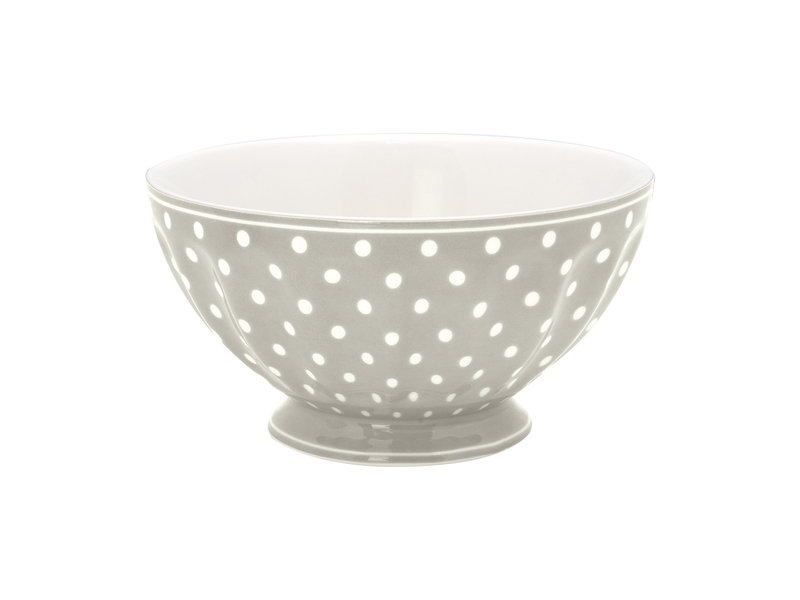 "GreenGate French bowl xlarge ""Spot grey"""