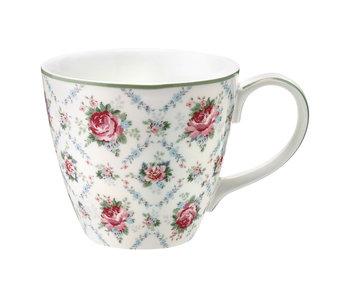 """GreenGate Henkelbecher """"Mug Malene petit"""" white"""