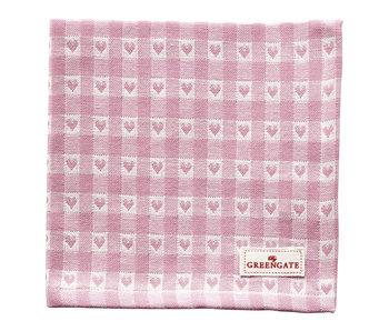 "GreenGate Stoffserviette ""Heart petit"" pale pink"
