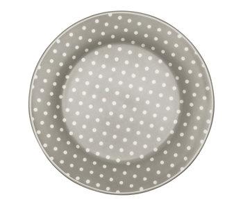 """GreenGate Frühstücksteller """"Spot"""" blue grey"""