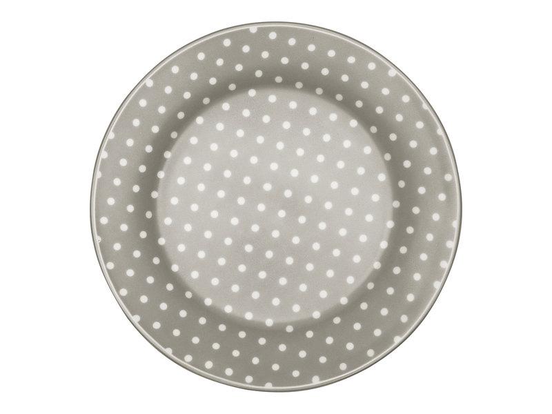 """GreenGate Frühstücksteller """"Spot"""" grey"""