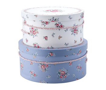 "GreenGate Kisten Set ""Storage box Nicoline white"" 2 Stk."