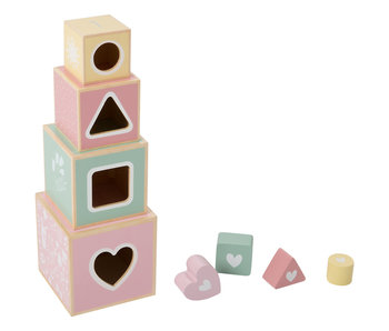 "Little Dutch Holz ""Stapelturm"" pink"