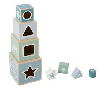 "Little Dutch Holz ""Stapelturm"" blau"