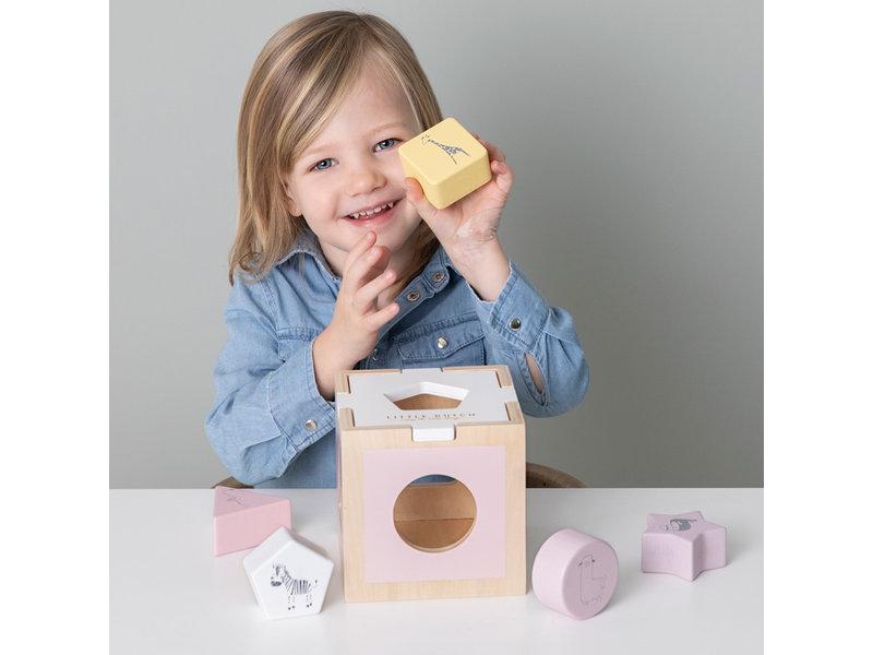"Little Dutch Holz ""Formen-Steck-Spiel Zoo"" pink"