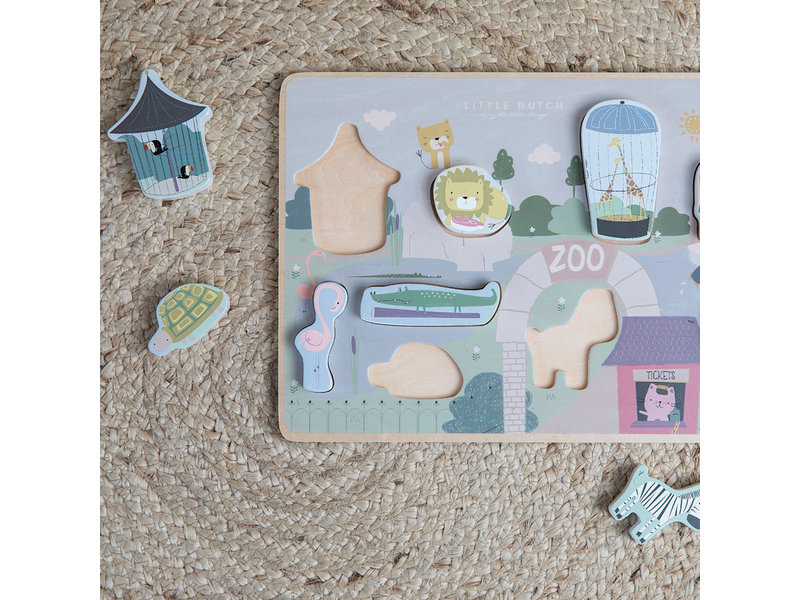"Little Dutch Holz ""Formpuzzle"" Zoo"