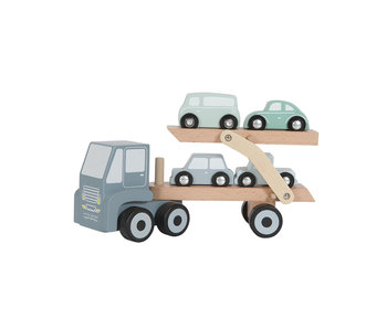 "Little Dutch Holz ""Autotransportwagen"" blau"