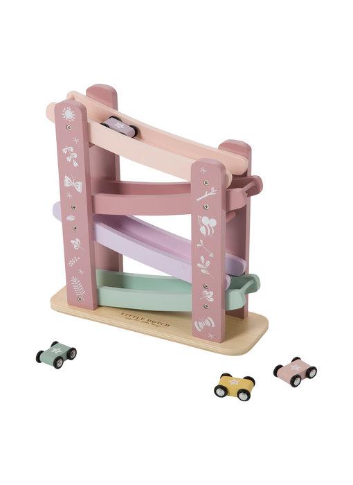 Little Dutch Holz Rennbahn, pink