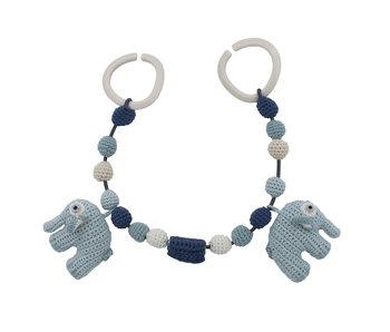 Sebra Häkel-Kinderwagenkette, Fanto der Elefant, lagoon