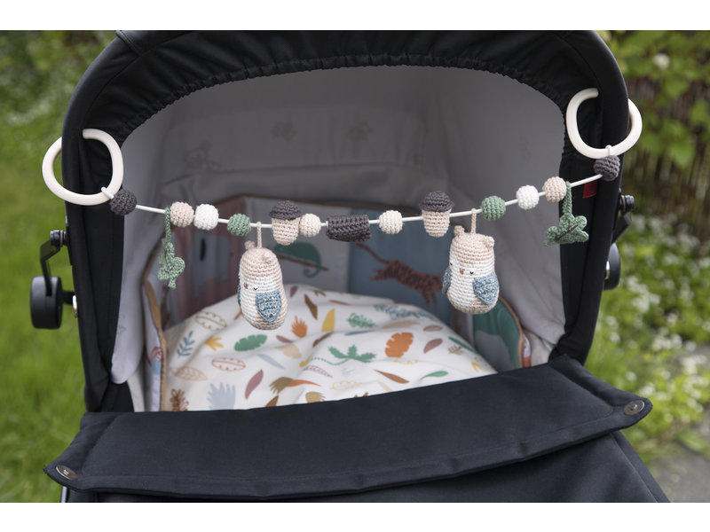 Sebra Häkel-Kinderwagenkette, Fanto der Elefant, classic grey