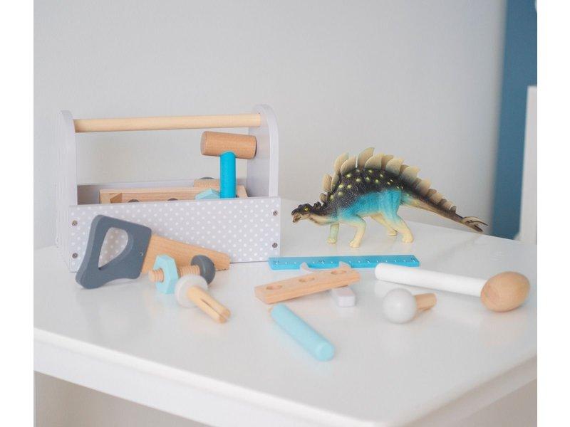 """JaBaDaBaDo Holzspielzeug """"Werkzeugkiste"""" grau"""