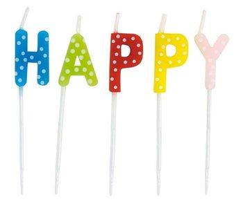 "JaBaDaBaDo Geburtstagskerzen ""HAPPY BIRTHDAY"""